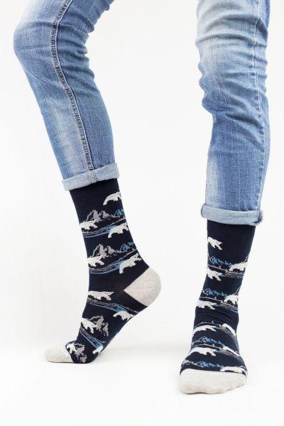 Ανδρικές Fashion Κάλτσες John Frank POLAR BEAR
