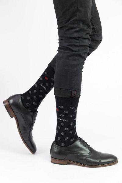 Ανδρικές Fashion Κάλτσες Trendy BLACK DOTS