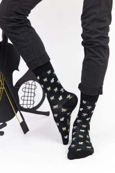 Ανδρικές Fashion Κάλτσες Trendy BLACK MARTINI