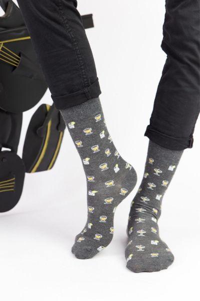 Ανδρικές Fashion Κάλτσες Trendy GREY MARTINI