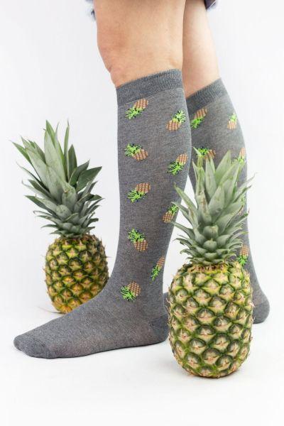 Γυναικείες Κάλτσες Knee-High Design PINEAPPLE
