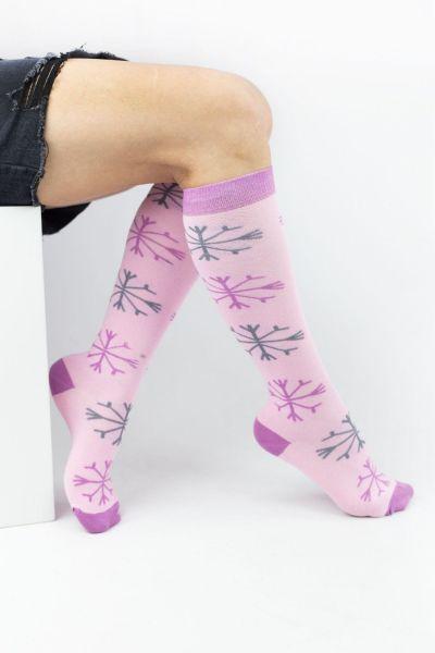 Γυναικείες Κάλτσες Knee-High Design SNOWFLAKE