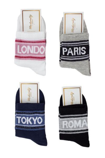 Γυναικείες ημίκοντες κάλτσες Modernty CAPITAL 4 ζευγάρια