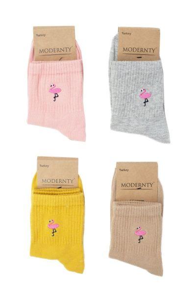 Γυναικείες ημίκοντες κάλτσες Modernty FLAMINGO 4 ζευγάρια