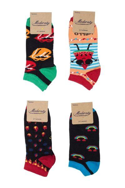 Γυναικείες κάλτσες σοσόνια Modernty HELLO 4 ζευγάρια