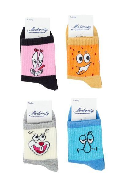 Γυναικείες Ημίκοντες Κάλτσες Modernty MOODS 4 ζευγάρια