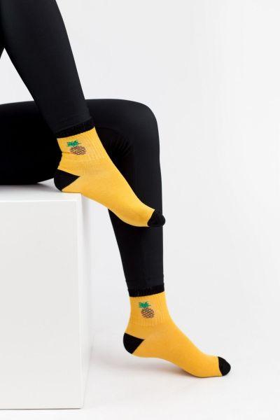 Γυναικείες Ημίκοντες Κάλτσες Modernty PASTEL FRUIT MUSTARD