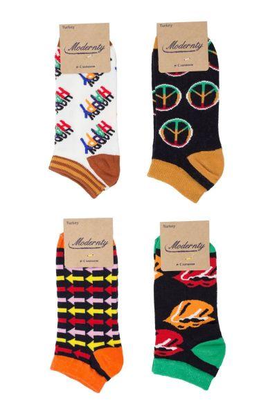 Γυναικείες κάλτσες σοσόνια Modernty PEACE 4 ζευγάρια
