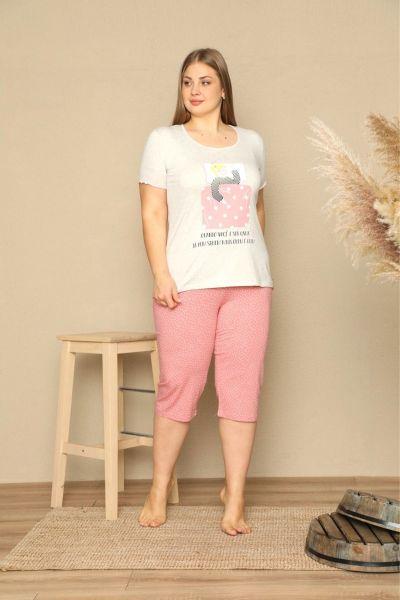 Γυναικεία Πιτζάμα Plus Size Κάπρι Sexen GIRLY