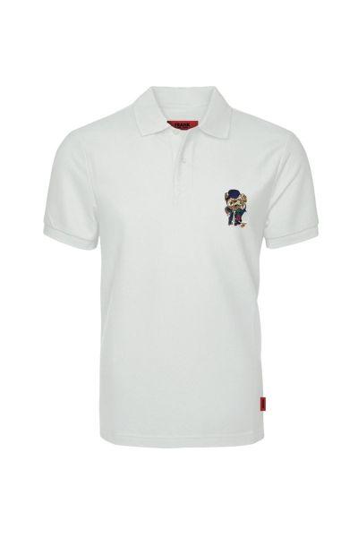 Ανδρικό Polo T-Shirt John Frank WHITE TEDDY