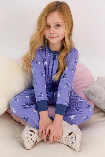 Παιδική ολόσωμη πιτζάμα για κορίτσι Roly Poly  RABBIT