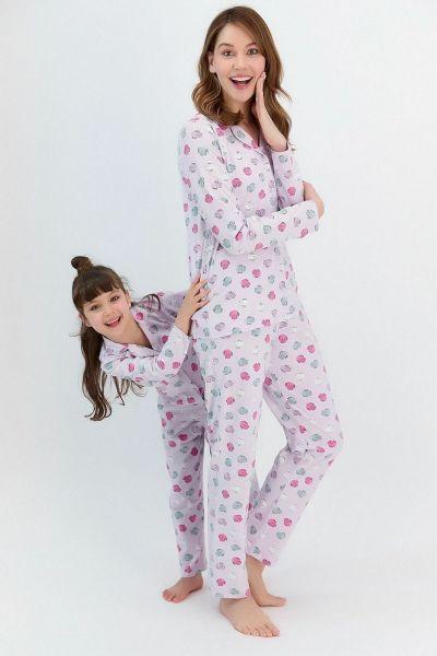 Γυναικεία χειμωνιάτικη πιτζάμα Roly Poly SLEEPY CAT