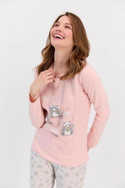 Γυναικεία χειμωνιάτικη πιτζάμα  Roly Poly SMILE EVERYDAY