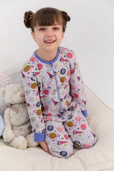Παιδική ολόσωμη πιτζάμα για κορίτσι  Roly Poly  SPACE