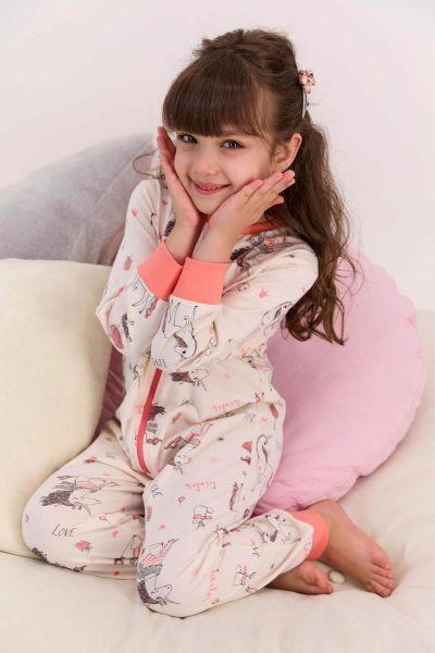 Παιδική ολόσωμη πιτζάμα για κορίτσι Roly Poly  UNICORN