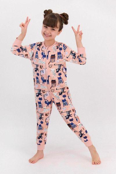 Παιδική Ολόσωμη Πιτζάμα για κορίτσι  Roly Poly  ZOO