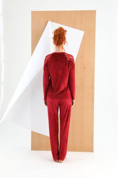 Γυναικεία βελούδινη πιτζάμα Sevim ANNABELLE