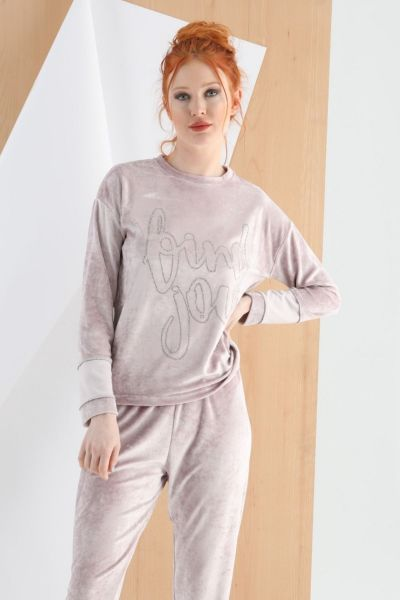 Γυναικεία βελούδινη πιτζάμα Sevim FIND JOY