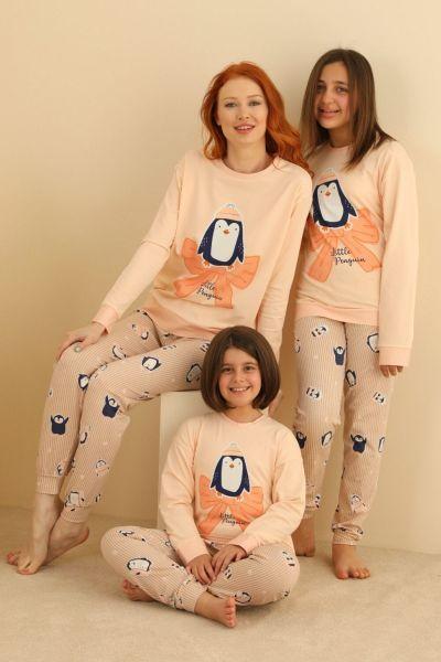 Γυναικεία χειμωνιάτικη πιτζάμα  Sevim LITTLE PENGUIN