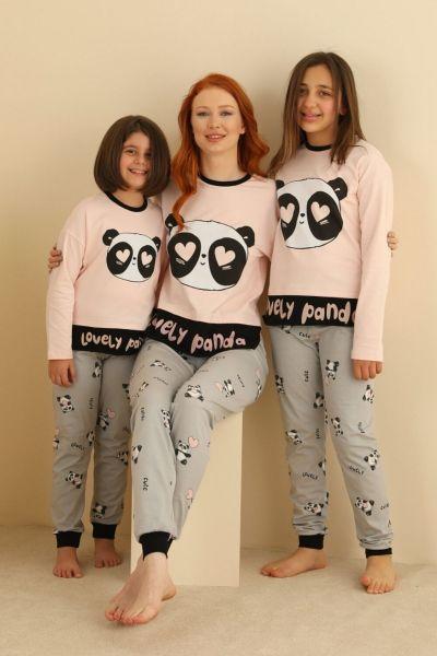 Γυναικεία χειμωνιάτικη πιτζάμα Sevim LOVELY PANDA