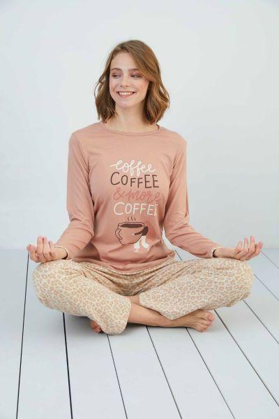 Γυναικεία χειμωνιάτικη Πιτζάμα Sevim MORE COFFEE