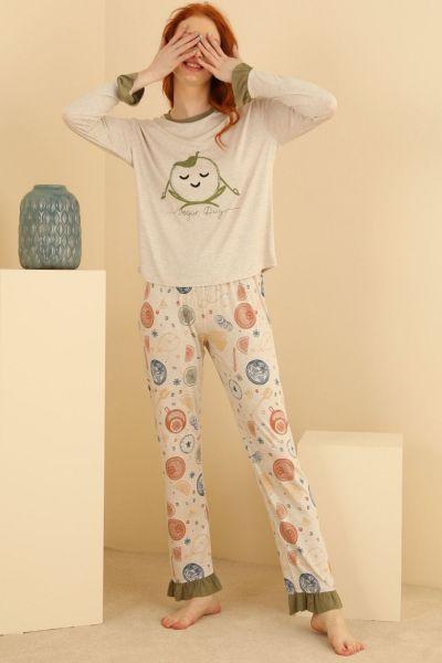 Γυναικεία χειμωνιάτικη πιτζάμα Sevim SELENA