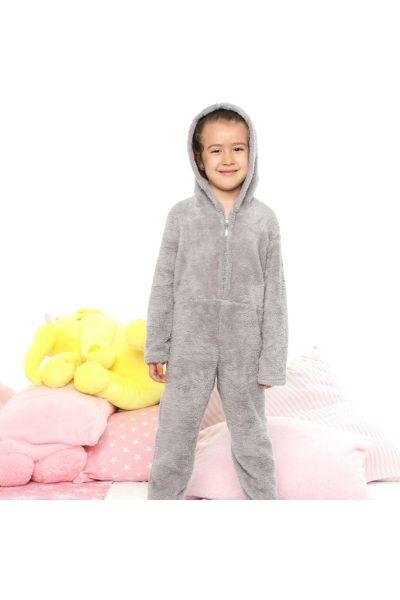 Παιδική Ολόσωμη Φλις Πιτζάμα siyah inci ARIA