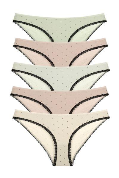 Γυναικεία Slips Donella TINY CIRCLES 5 τεμάχια