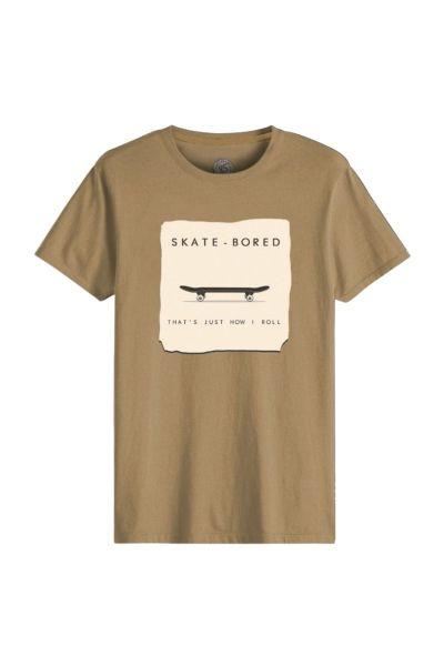 Ανδρικό T-Shirt John Frank SKATE-BORED