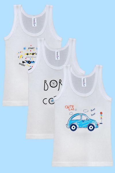 Παιδικά Φανελάκια Trendy TRIPLE 3 τεμάχια για αγόρι