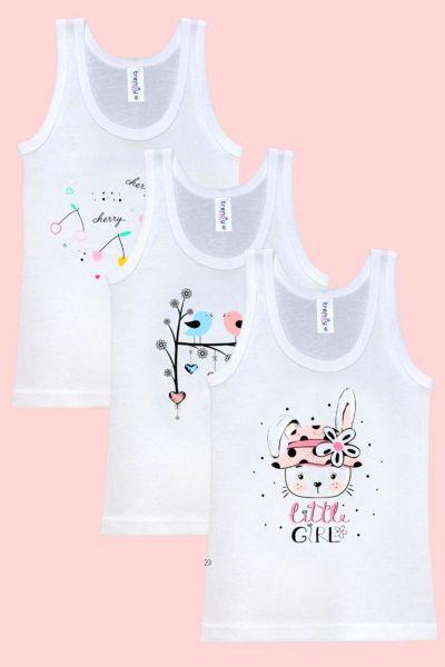 Παιδικά Φανελάκια Trendy TRIPLE GIRL 3 τεμάχια  για κορίτσι