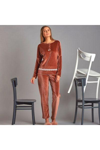 Γυναικεία Πιτζάμα Velvet Sevim CLOVER