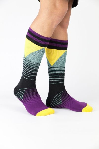 Unisex Αθλητικές Κάλτσες Crazy Socks PURPLE