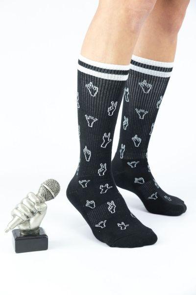 Unisex Αθλητικές Κάλτσες Crazy Socks HANDS UP