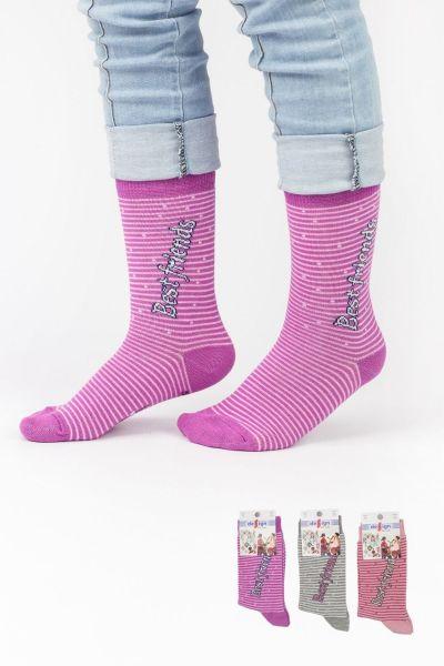 Παιδικές κάλτσες για κορίτσι Design BEST FRIENDS II 3 ζευγάρια