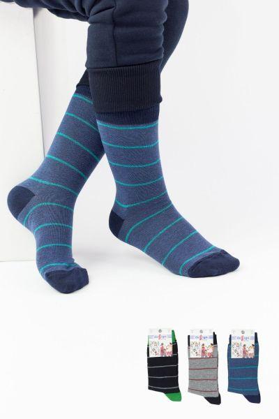 Παιδικές κάλτσες για αγόρι  Design LINES BOY II 3 ζευγάρια