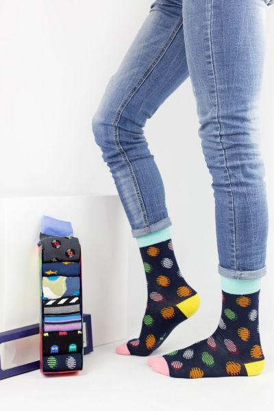 Fashion Κάλτσες Design VINTAGE 7 Ζευγάρια