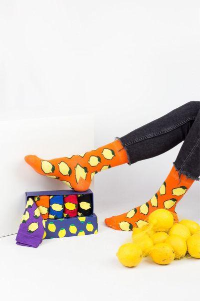Fashion Κάλτσες Livoni LEMONS 5 Ζευγάρια