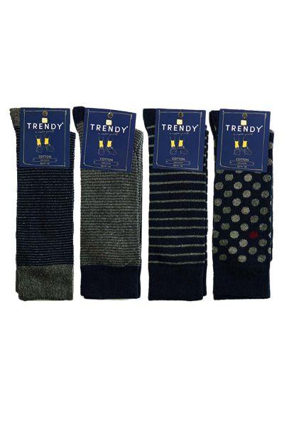 Κάλτσες Fashion με γκρι σχέδια