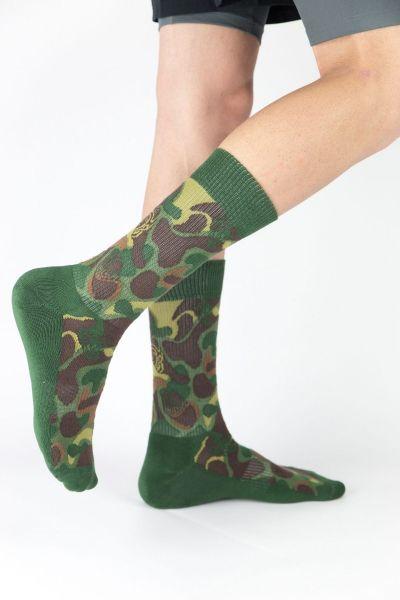 Unisex Αθλητικές Κάλτσες Crazy Socks MILITARY
