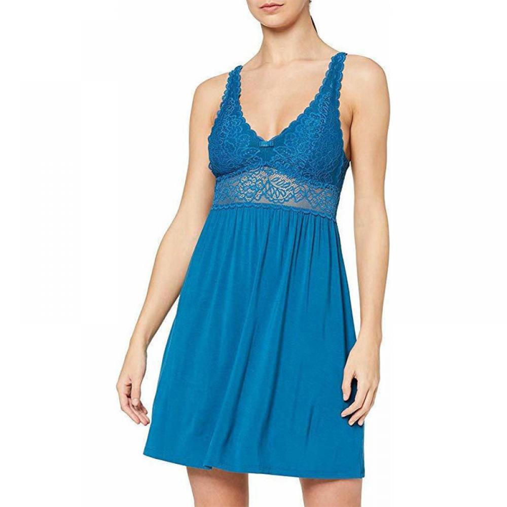 Γυναικείο νυχτικό Triumph Viscose Ρουά Μπλε